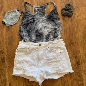 Classic white jean short